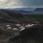 ユルタというテントの宿舎